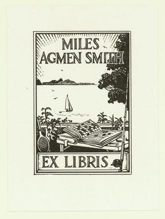 Miles Agmen Smith Ex libris