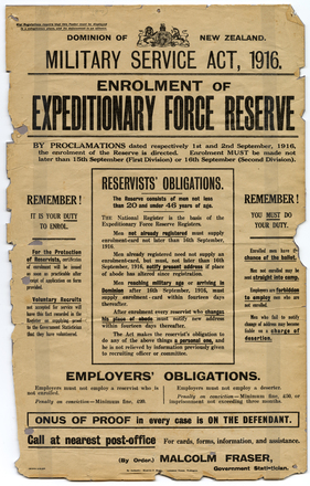 Military Service Act, 1916.