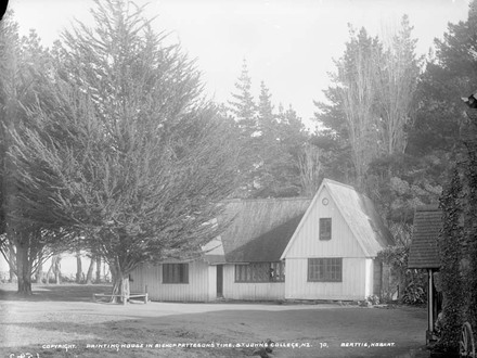 Printing house in Bishop Patteson's time. St. John's College, N.Z.