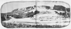 View of the White Terraces and Lake Rotomahana. Co...