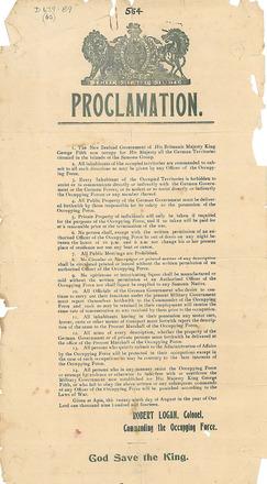 German Samoa Proclamation - Auckland War Memorial Museum Tamaki Paenga Hira