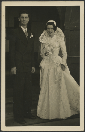 Bruce Papas with his sister Dawn on her wedding day
