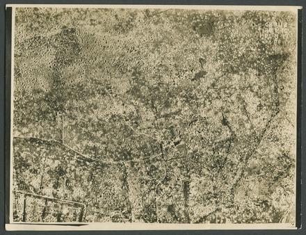 [Passchendaele aerial photograph.]