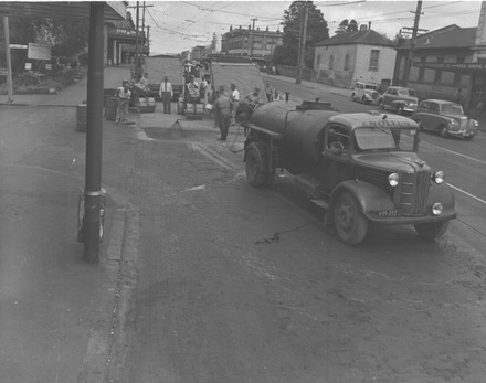 [Road sealing, Karangahape Rd]