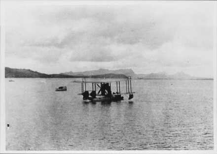 Seaplane at Onerahi (Walsh Bros) Pilot Capt Robert Going, co-pilot George Bolt