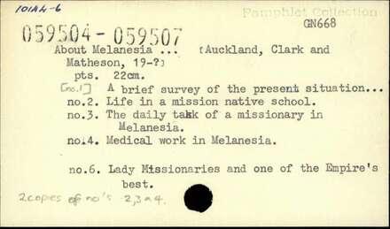 About Melanesia