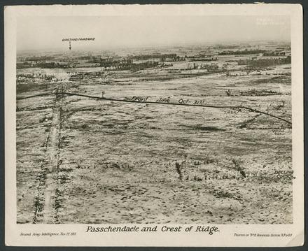 Passchendaele and Crest of Ridge. - Auckland War Memorial Museum Tamaki Paenga Hira
