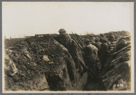N.Z. troops in the front line on the Somme.