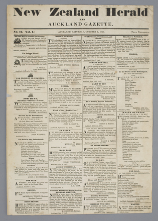 New Zealand herald and Auckland gazette