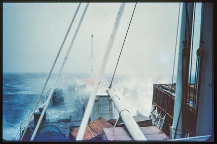 [Aboard ship at sea]