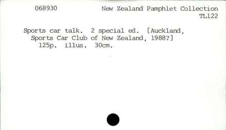 Sports car talk