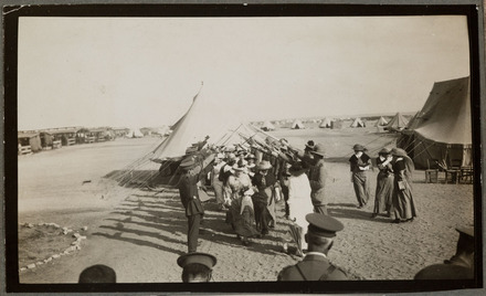 Captain T.A. Blake & Mrs. Blake's wedding. Zeitoun Camp, 1915