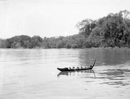 [Canoe in the Solomon Islands]