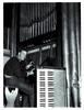 Installing a large pipe organ.