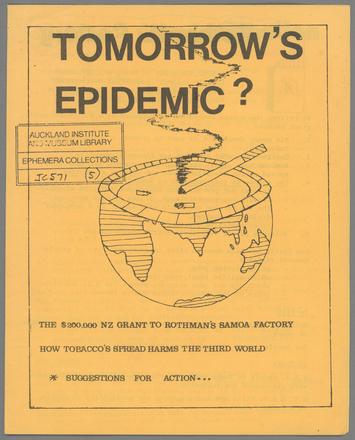 Tomorrow's Epidemic?