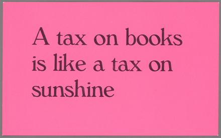 A tax on books