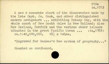 A new & accurate chart of the discoveries made by the late Capt. Js. Cook, and other…
