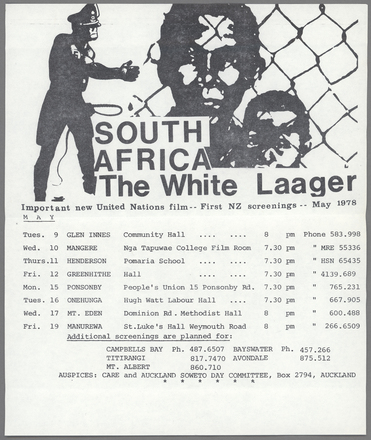 South Africa the White Laager