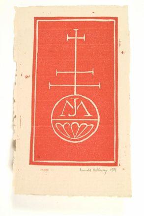 J.M. Plate for New Zealand novelist Mary Jane Mander