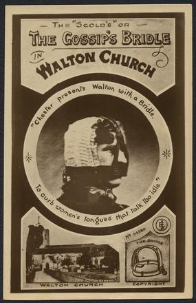 """The """"Scold's"""" or The Gossip's Bride in Walton Church"""