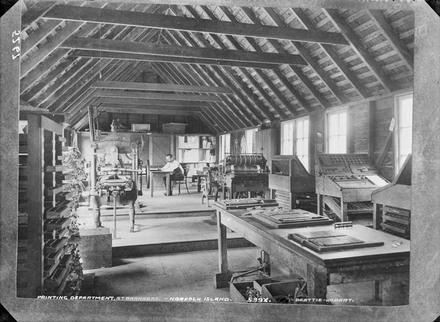 Printing department, St. Barnabas. - Norfolk Island