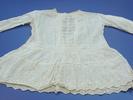 dress, child's; white muslin; dropped waist, back ...