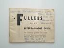 Fullers Free Entertainment Guide 1959-60 season de...