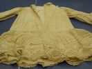 dress, child's; white cotton, trimmed with eyelet ...