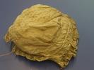 bonnet, baby's; muslin, lace edged; three drawstri...