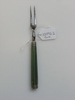 fork with green enamel handles, in box (see other ...
