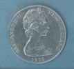 New Zealand Mount Cook One Dollar, 1970 obverse: c...