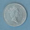 New Zealand twenty cent coin, 1990 obverse: diadem...