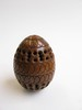 darning egg. pierced wood, boxwood