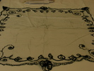 Black [funeral] net veil, with fine black bias tap...