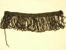 collar/fringe, black beads