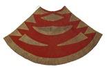 feather cloak. ornamented in geometrical designs o...