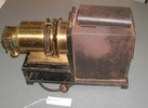 Magic lantern in suitcase and accessories, see 'ob...