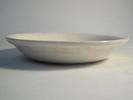 White bowl, dessert bowl celadon moulded grey/gree...