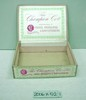 Chocolate box, brown card, flat, rectangular, 'The...