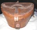 leather hatbox Received with black silk top hat th...