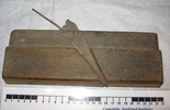 carpenter's beading plane; wooden rectangular shap...