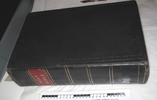 family bible; large black leather with embossed pa...