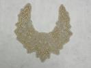 collar, neck, appliqué silk satin, cream beads an...