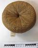 kava strainer of woven fibre. [tag reads  basketw...