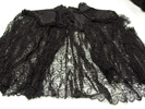 woman's cloak; yoke made of black silk [oriental s...