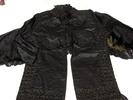 woman's dolman of black silk worsted mix [oriental...