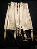 longline, off-white cotton corset, with bones, lac...