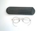 spectacles, metal framed, in black case