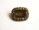 brooch, mourning.