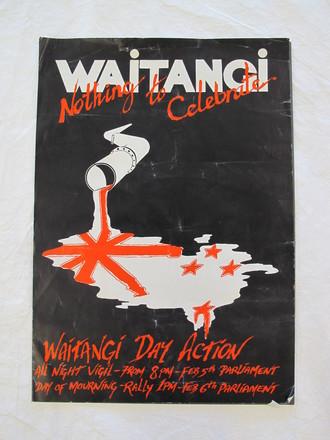 Waitangi protest poster